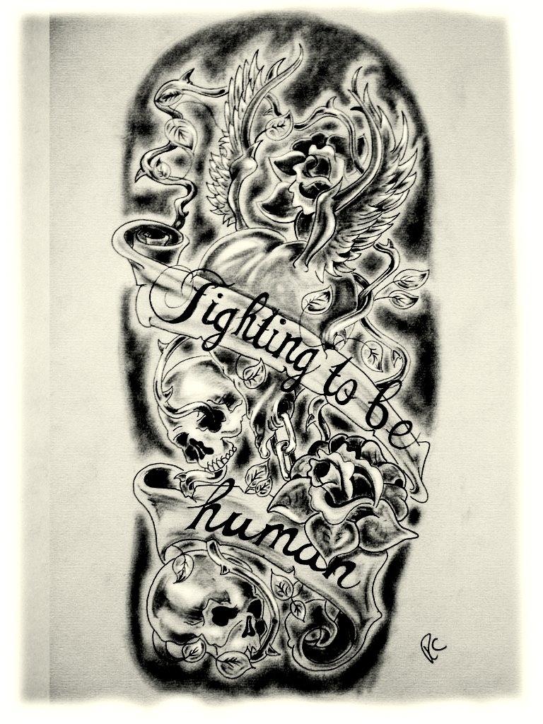 768x1024 Sleeve Tattoo Drawing Designs