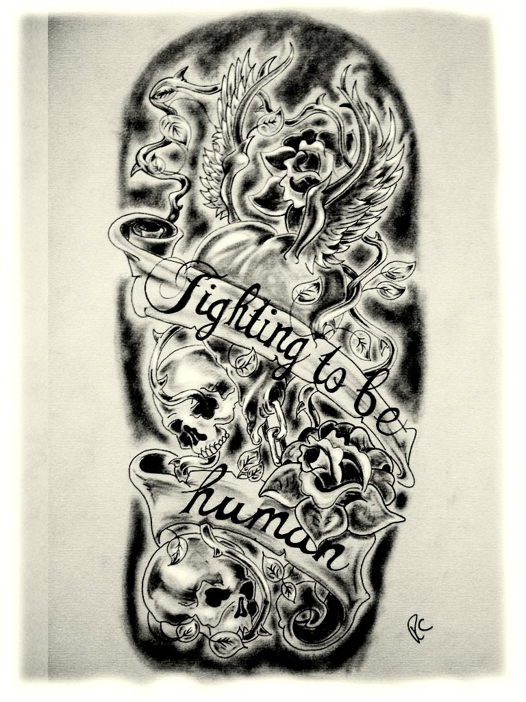 Sleeve Tattoo Drawings: Tattoo Drawing Designs On Paper At GetDrawings