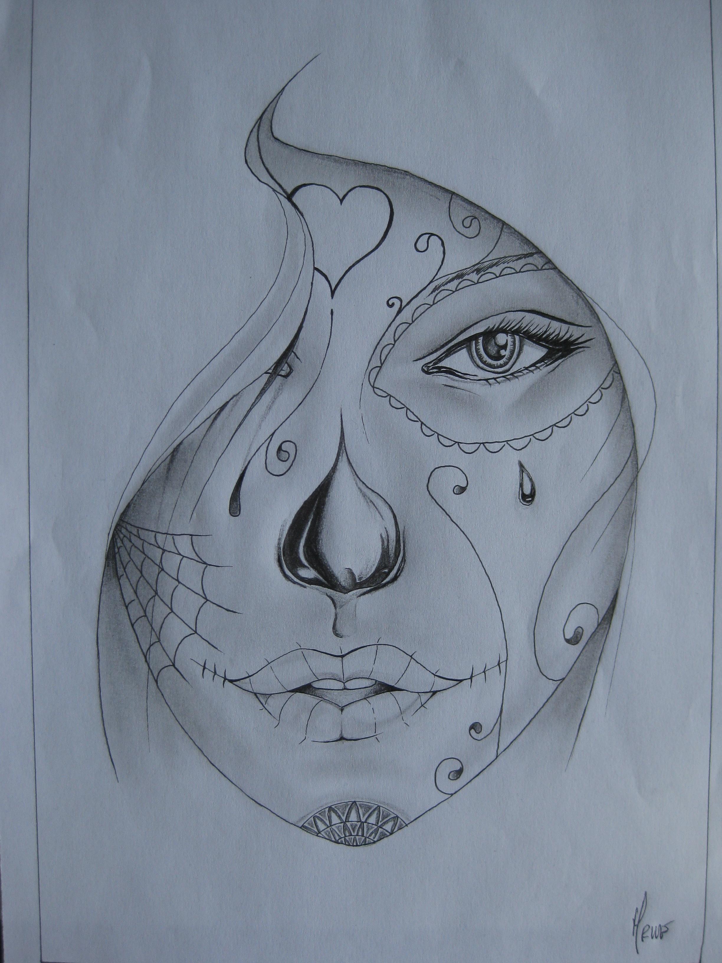 2448x3264 santa muerte tattoo draw paper tattoos santa muerte