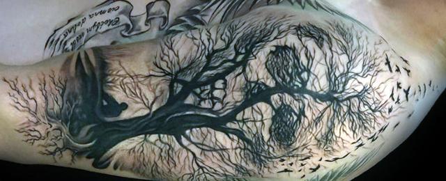 640x260 50 Life Death Tattoo Designs For Men