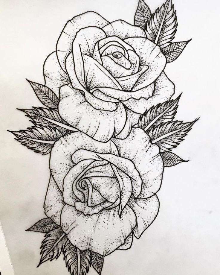 736x919 Gallery Rose Tattoo Sketch,