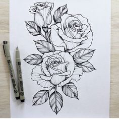 236x236 Black Rose Drawing Tattoo Black Rose Designs Rose Black And White