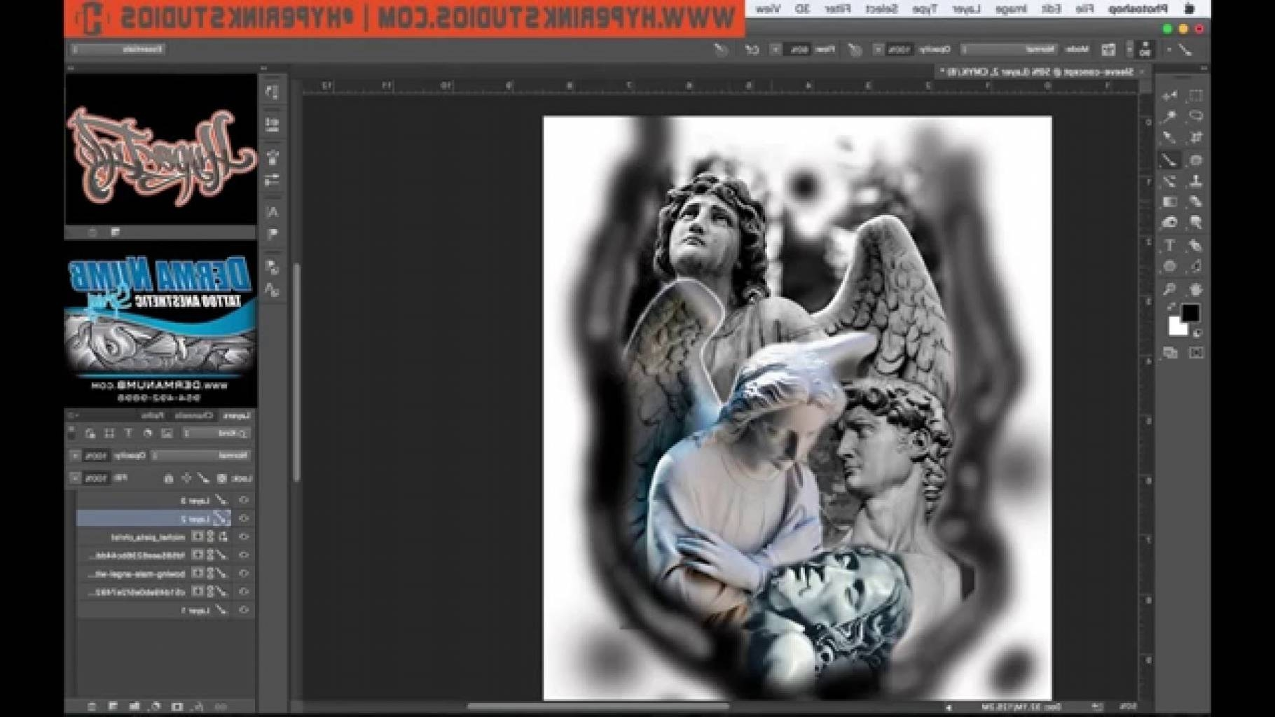 X How To Use Photoshop For Tattoo Designs Ae Youtube With Regard To