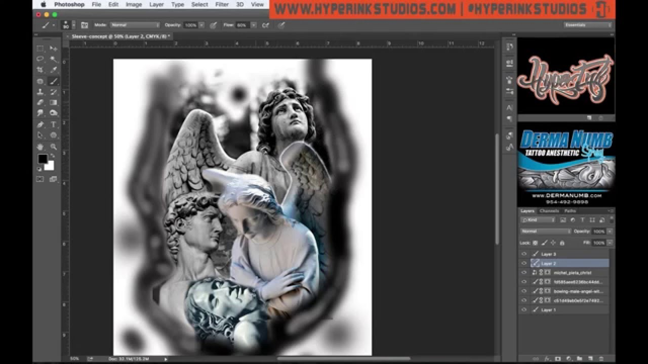 1280x720 How To Use Photoshop For Tattoo Designs