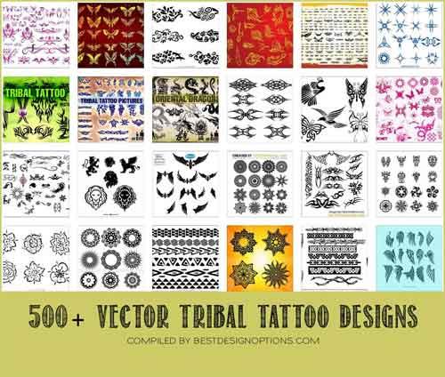 500x424 Tribal Tattoo Design Free Vectors To Download