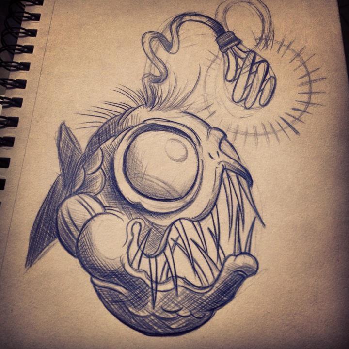 720x720 Angler Fish Tattoo Designs