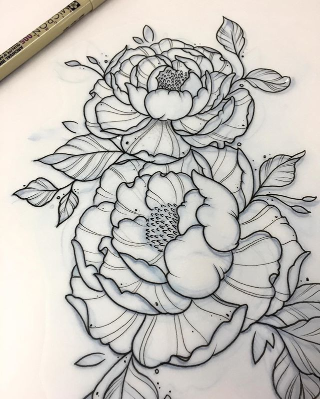 Tattoo Flower Drawing At Getdrawings Free Download