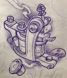 Tattoo Machine Drawing At Getdrawings Com Free For Personal Use