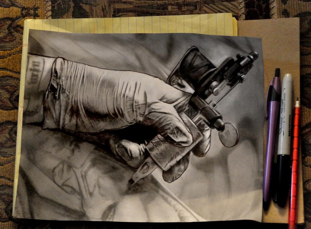 1024x752 Tattoo Machine Drawing Tattoo Machine Drawing