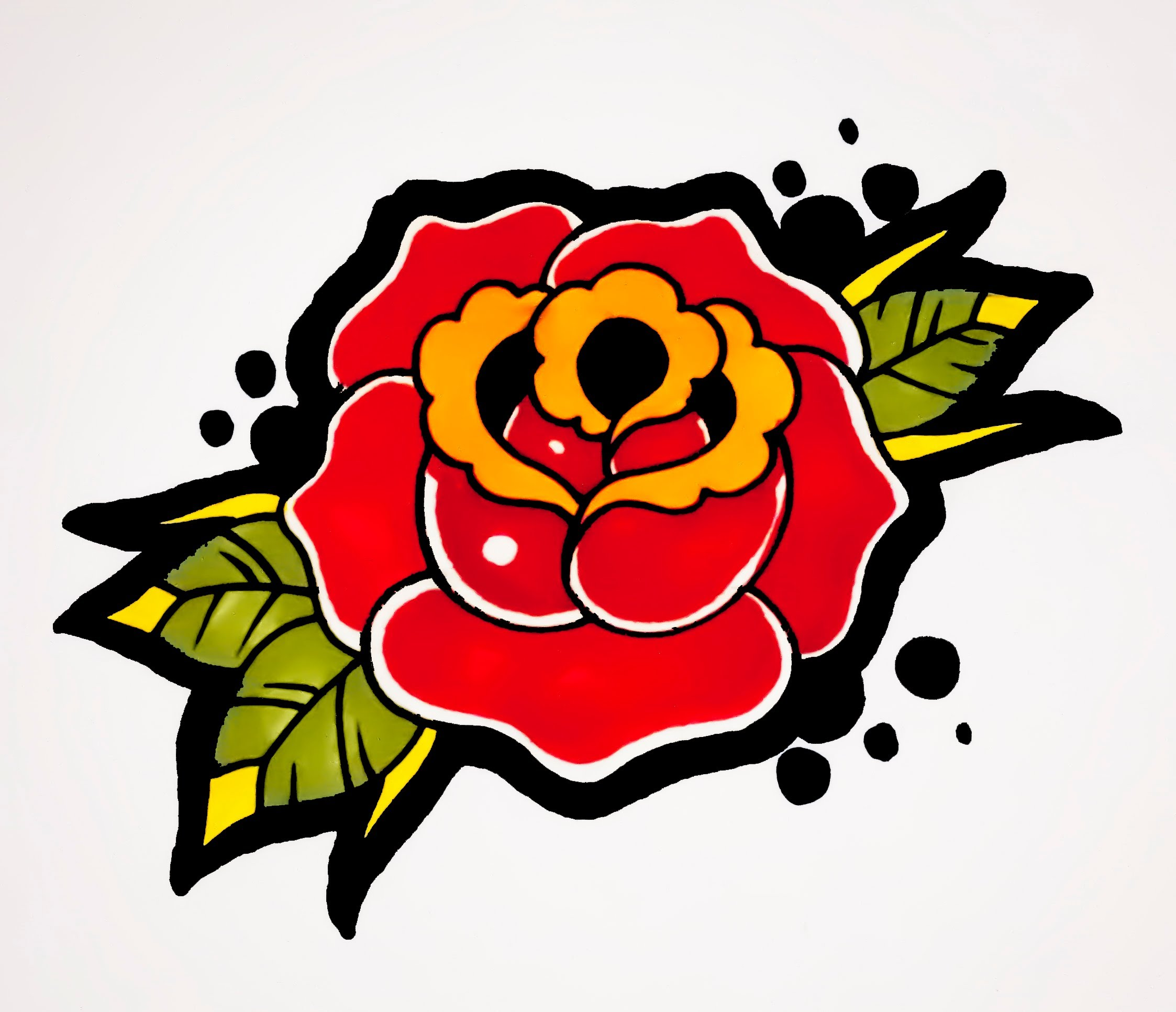 2246x1932 How To Draw A Rose Old School Tattoo Style