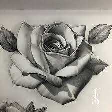 225x225 Photos Realistic Flower Tattoo Drawings,