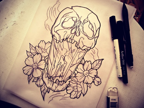 Compass Tattoo Line Drawing : Tattoo tumblr drawing at getdrawings free for personal use