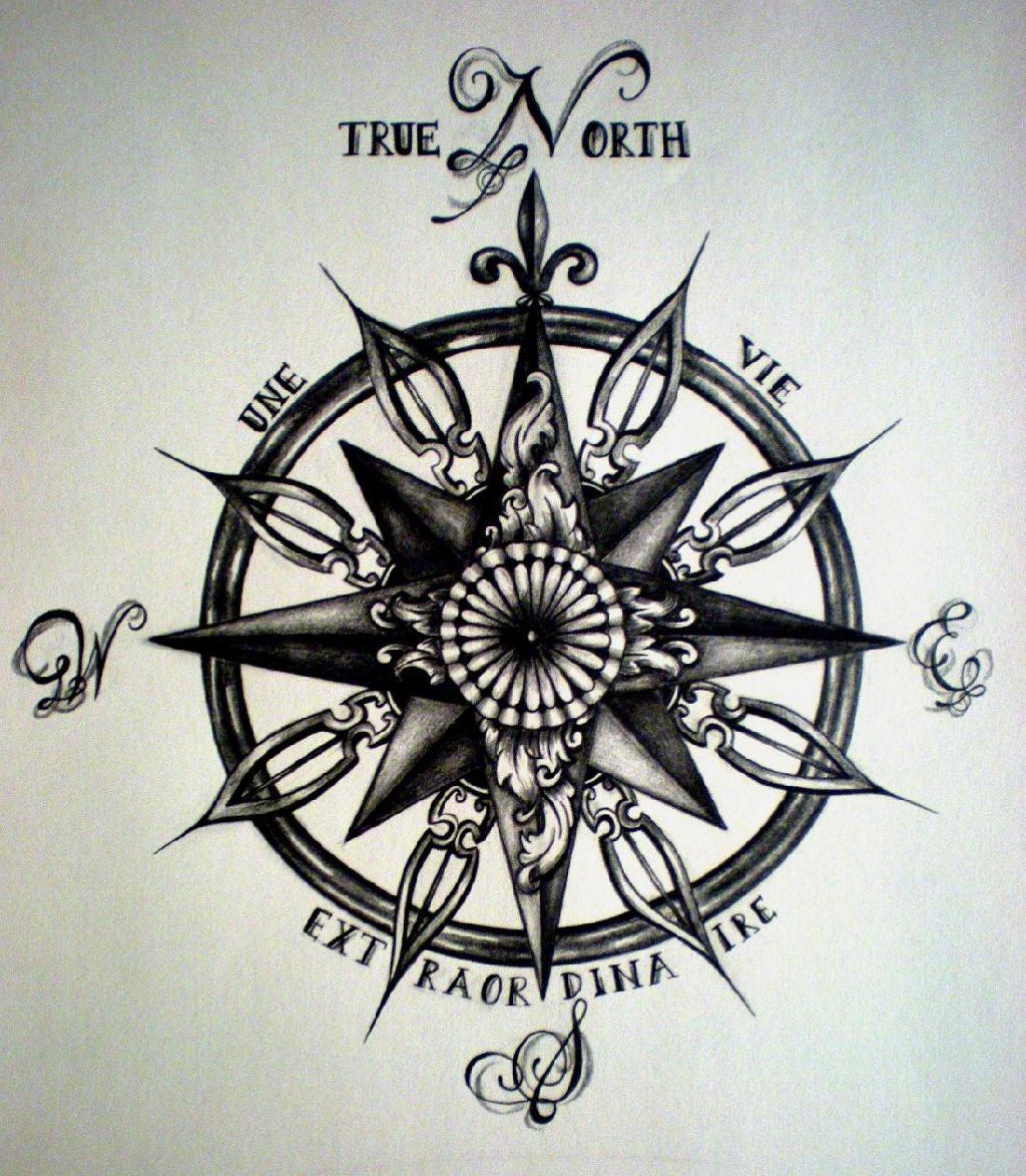 1024x1173 Compass Tattoos
