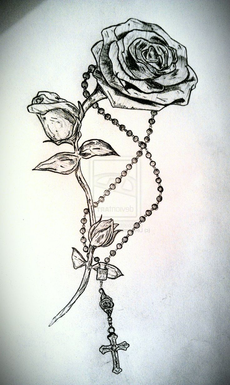 736x1230 Rosary Beads Tattoo Drawing Ideas About Rosary Bead Tattoo