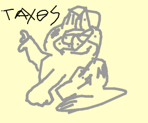 300x250 Sad Cat That Has To Pay Tax