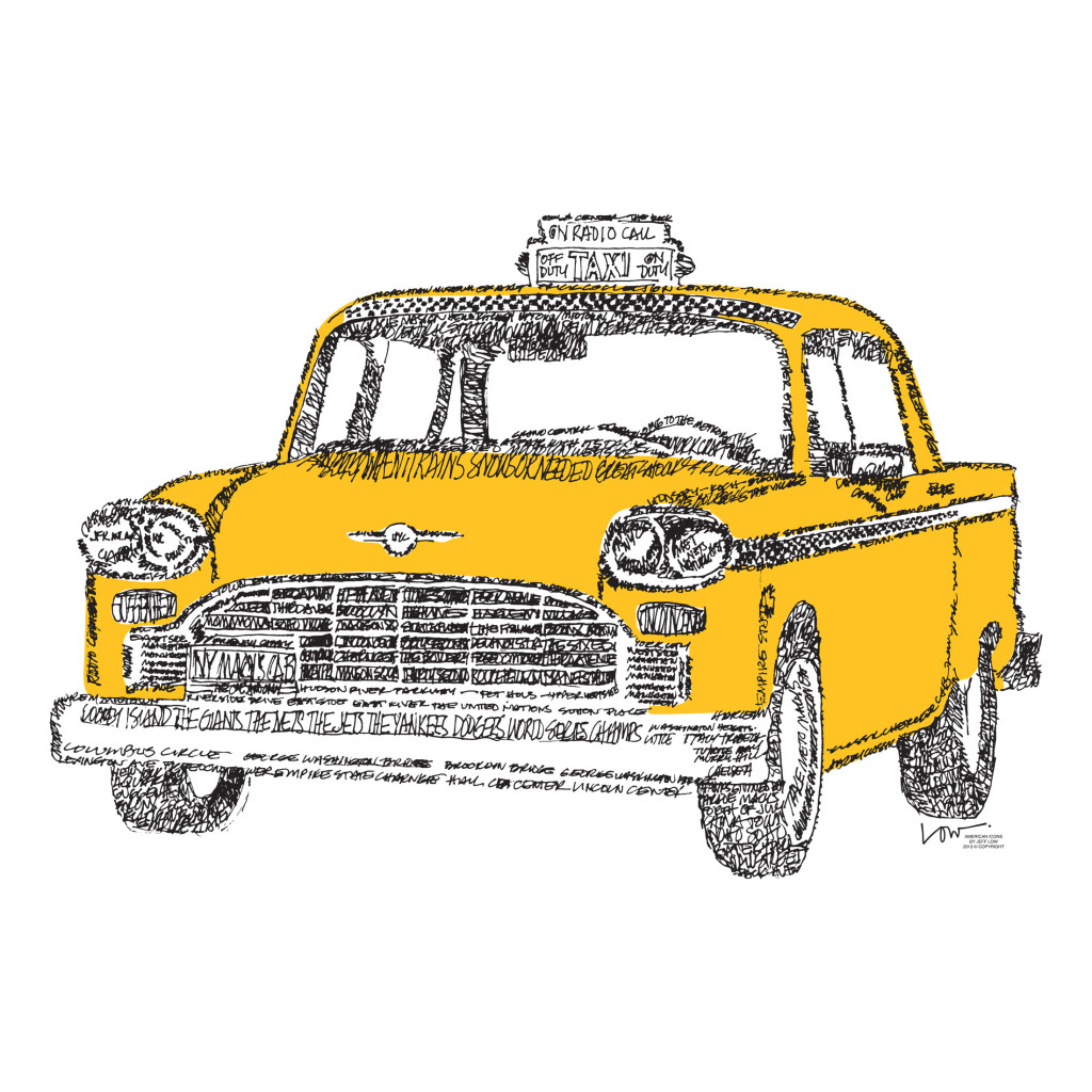 Drawing Ford Crown Victoria Taxi Cab (Yellow ... |Yellow Taxi Cab Drawing