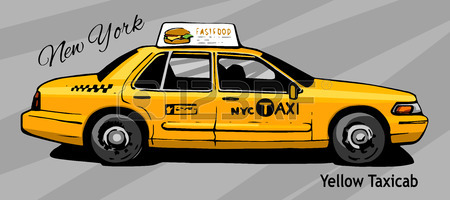 NYC Taxi and New York Car Service Blog: YellowCabNYC.com |Yellow Taxi Cab Drawing