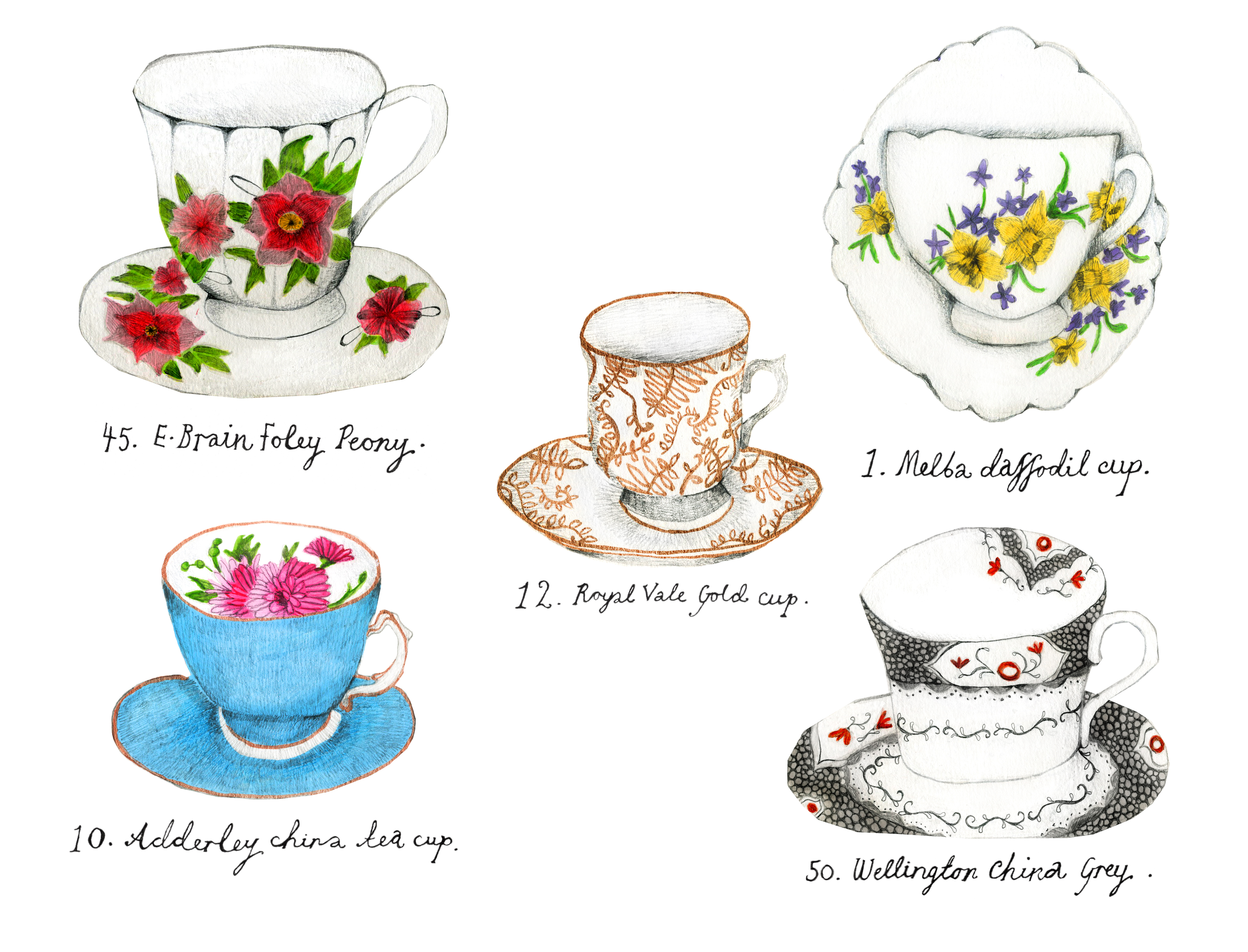 Tea Cup Drawing at GetDrawings | Free download