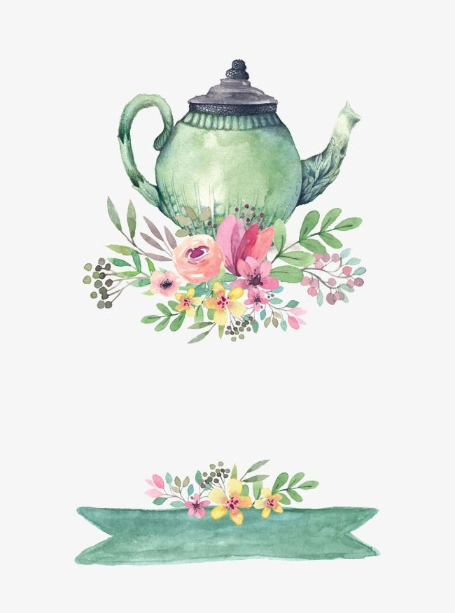 650x876 Drawing Teapot, Hand Painted, Watercolor, Light Green Png And Psd