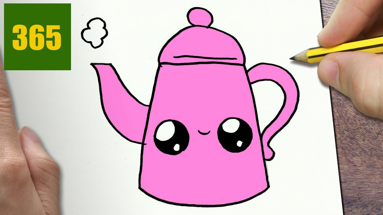 1280x720 How To Draw A Teapot Cute, Easy Step By Step Drawing Lessons