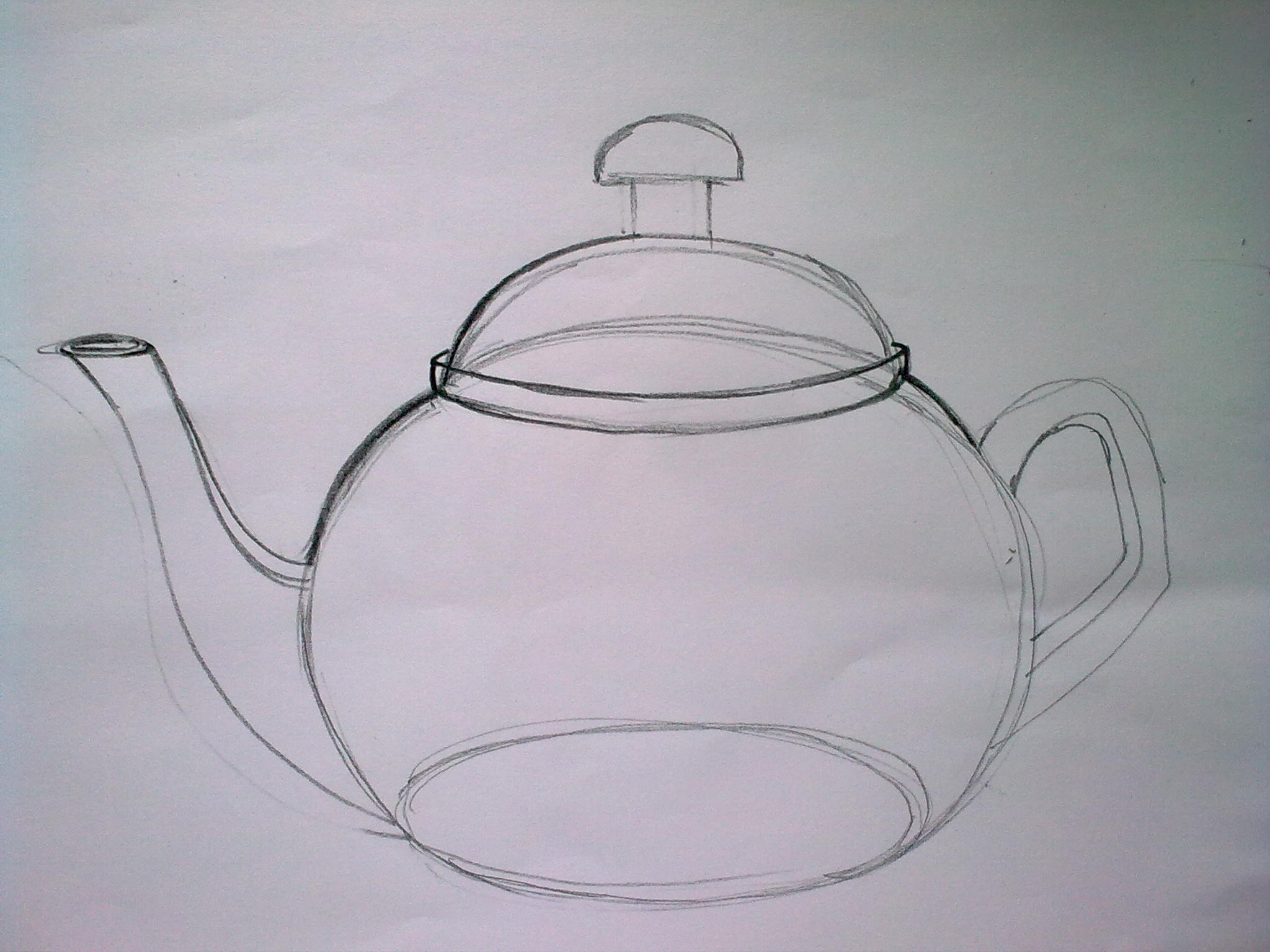 2048x1536 How To Draw A Teapot 1 Sketchlovers