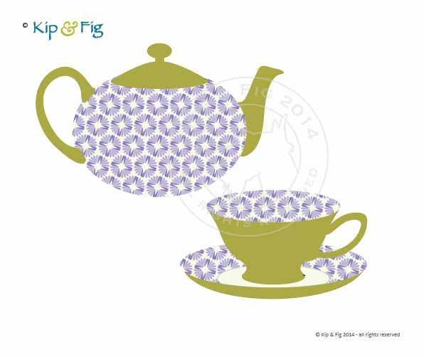 596x502 Teapot Teacup Applique Template Teacup, Teapot And Template