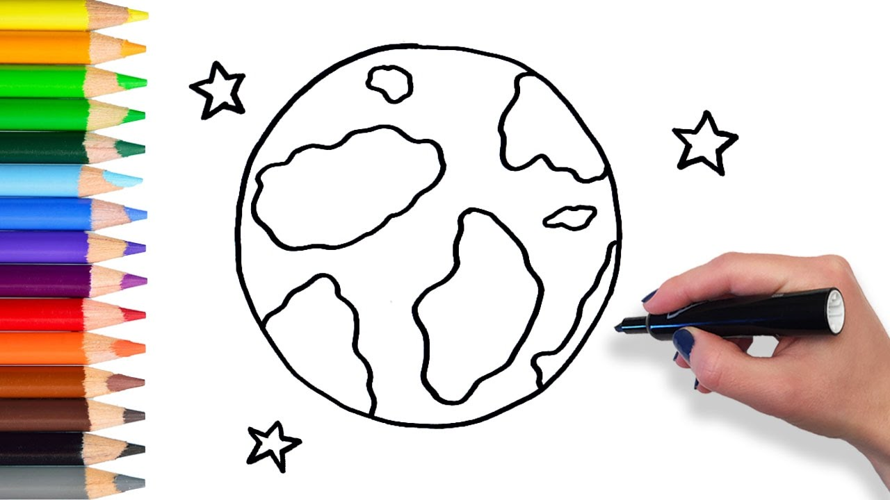 1280x720 Learn How To Draw Earth Stars Teach Drawing For Kids