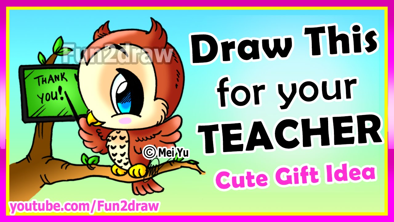 1280x720 Draw Perfect Teacher's Gift Easy How To Draw An Owl Teaching