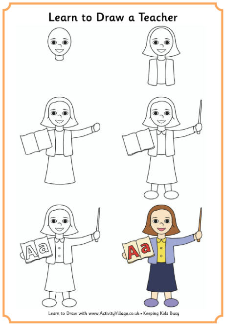 460x663 Learn To Draw A Teacher (Female)