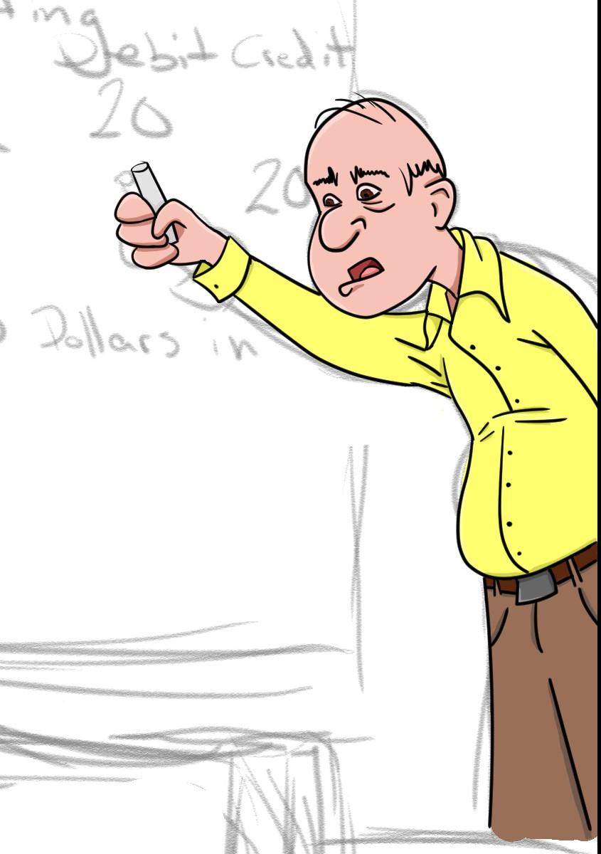 845x1200 Old Accounting Teacher Roamin' Doodles
