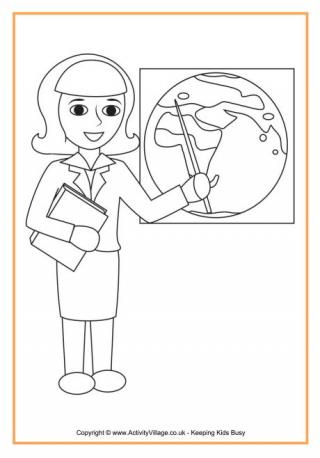 320x458 School Colouring Pages