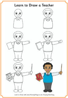 221x320 Learn To Draw A Teacher (Male) Art Teacher Jeni