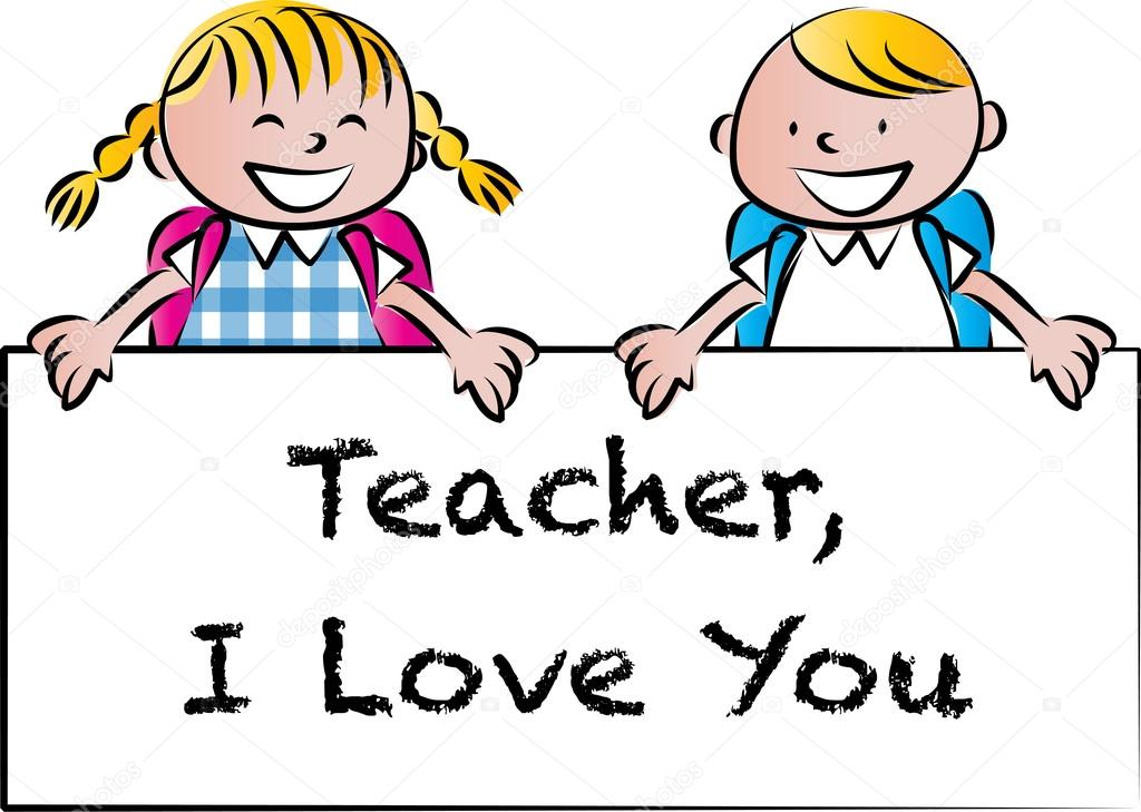 1024x729 Cartoon Drawing Happy Teachers'Day Card Stock Photo Wenpei