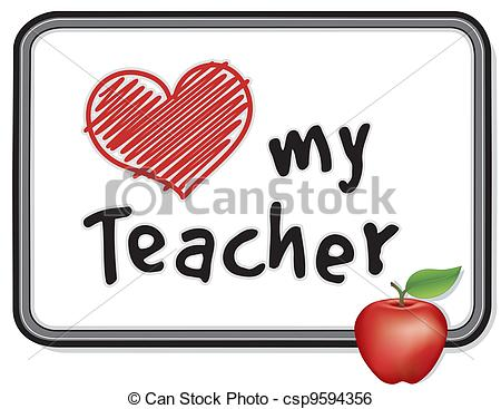 450x367 Love My Teacher Whiteboard, Apple. Love My Teacher Message Clip