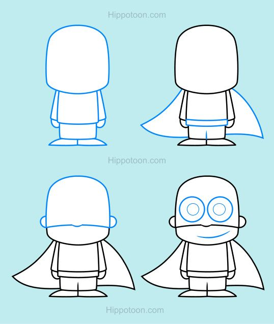 538x636 Simple Drawing Lesson On How To Draw A Superhero. Awesome