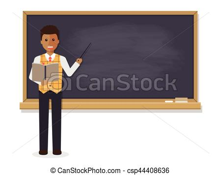 450x357 African Teacher Teaching In Classroom. African Teacher, Vectors
