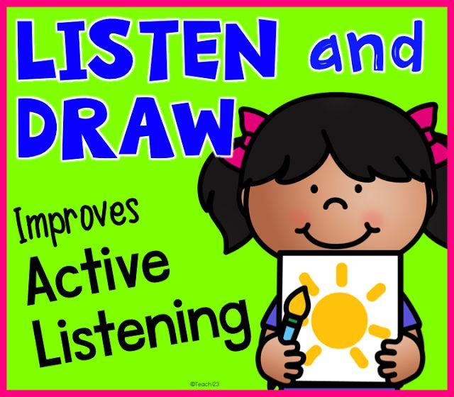 640x560 Listening Skills Listen Amp Draw, E.s.l., Sub Plans, Inside Recess