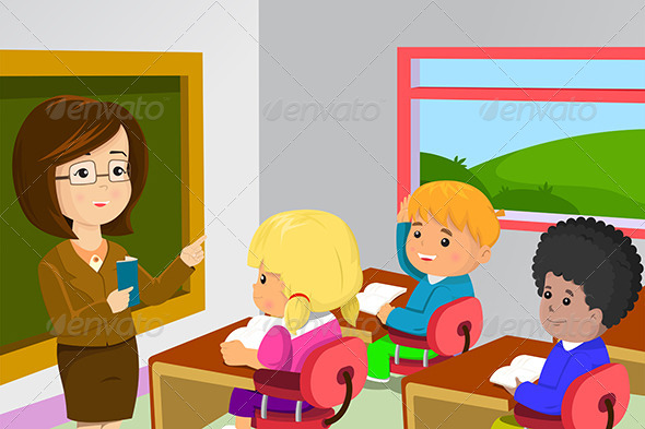 590x393 Teacher And Students In Classroom By Artisticco Graphicriver