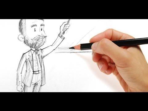 480x360 Learn How To Draw A Teacher Drawing Teacher Tutorial