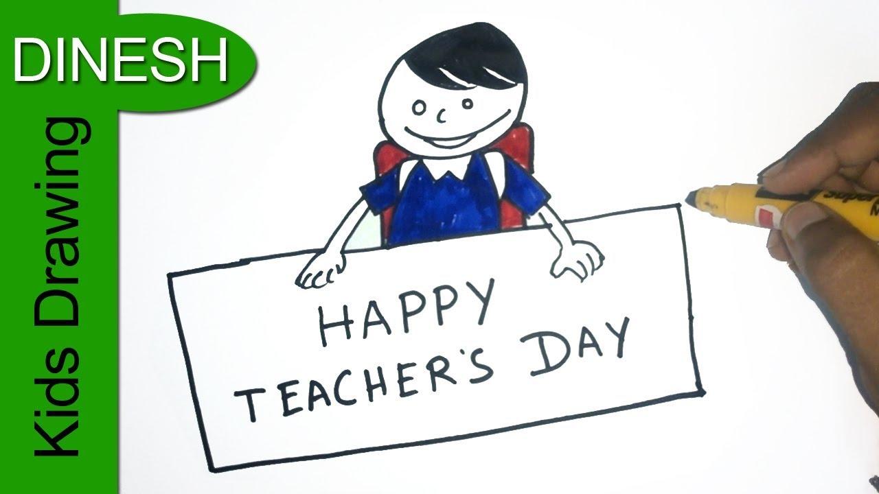 1280x720 Teachers Day Drawing For Kids Happy Teachers Day