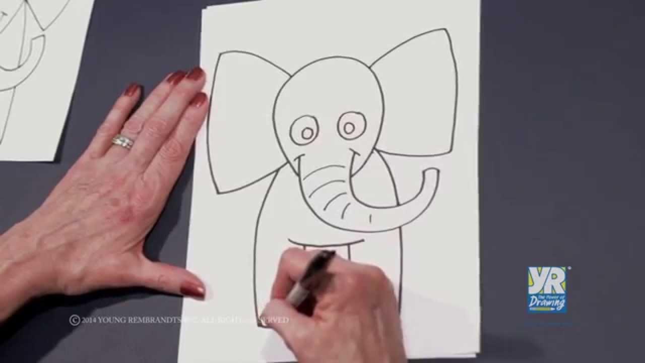1280x720 Teaching Kids How To Draw How To Draw A Cartoon Elephant