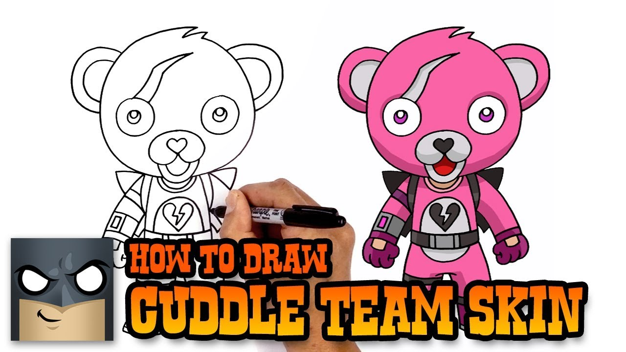 1280x720 How To Draw Cuddle Team Leader Fortnite (Art Tutorial)