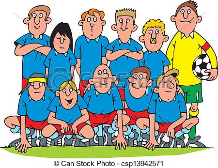 450x347 Nice Soccer Team Isolated On White Background Vectors Illustration