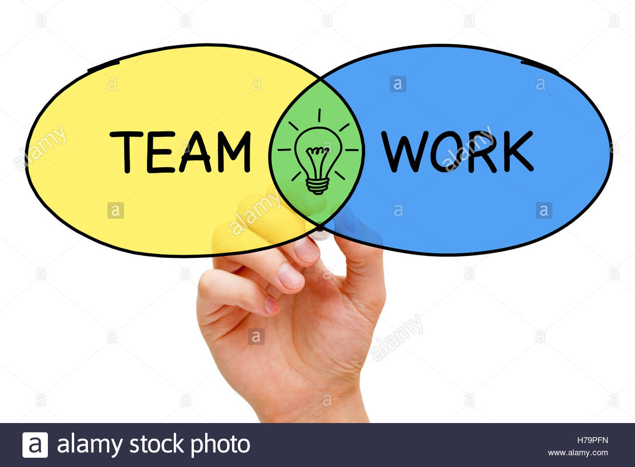 1300x956 Hand Drawing Teamwork Idea Diagram Concept With Marker