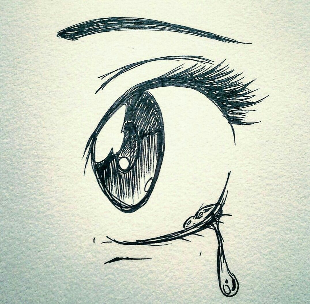 1075x1057 A Tear So Cool And Sad Painting Ideas Drawings