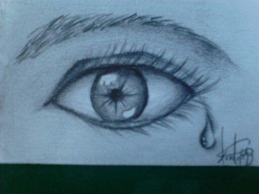 512x384 Drawing Eye Tear Using Graphite Drawing