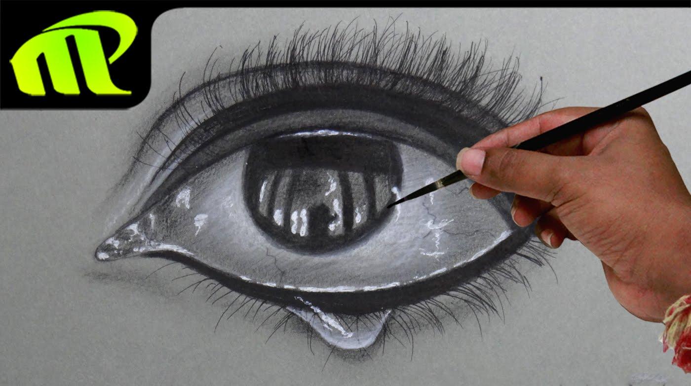 1400x783 Drawing A Realistic Eye With Tear Drop