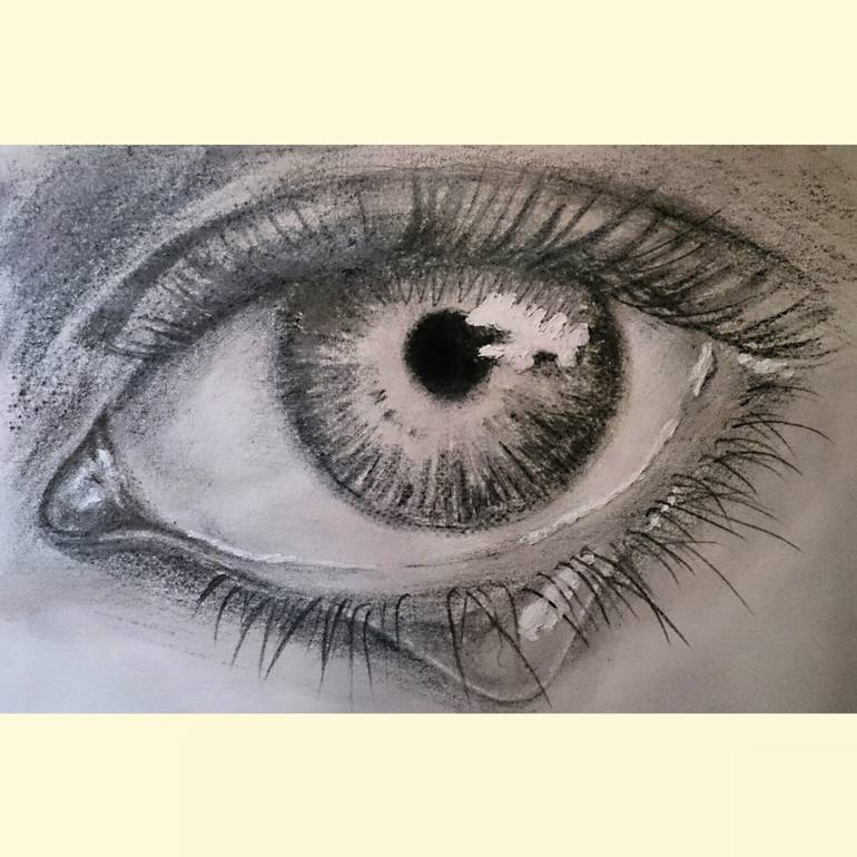 770x770 Saatchi Art Tear Drawing By Unwana Ubeng