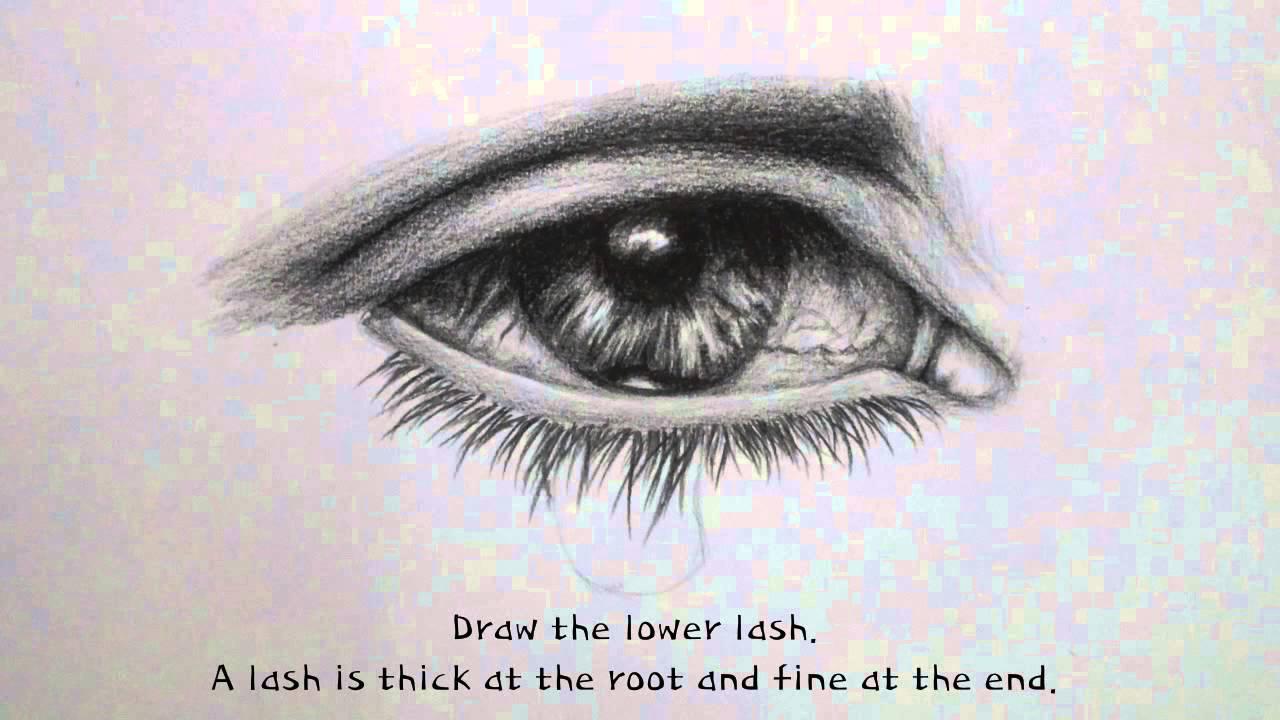 1280x720 Eye Teardrop Drawing Tutorial