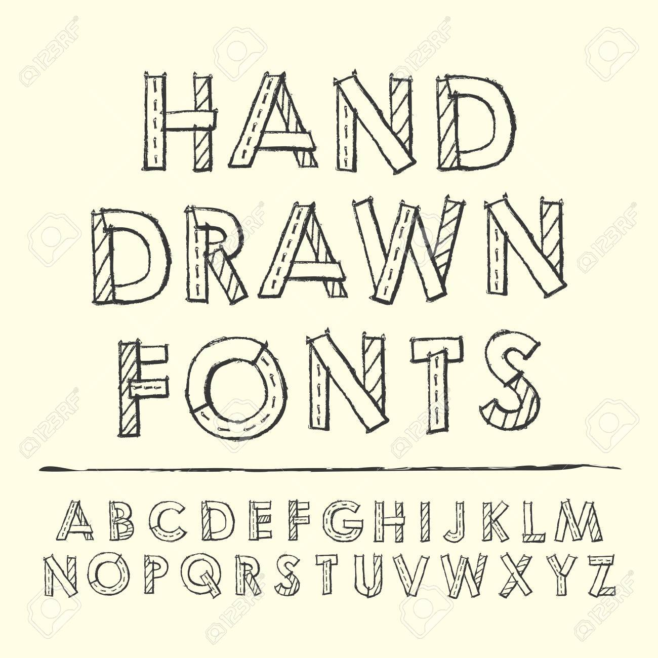 1300x1300 Simplicity Hand Drawn Fonts Design Over Beige Background Royalty